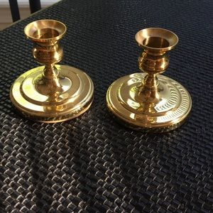 Pair of Baldwin brass candlestick holders